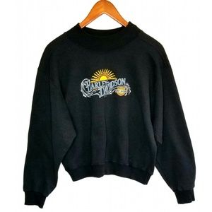 VTG Harley Davidson Semi Crop Crewneck Sweatshirt